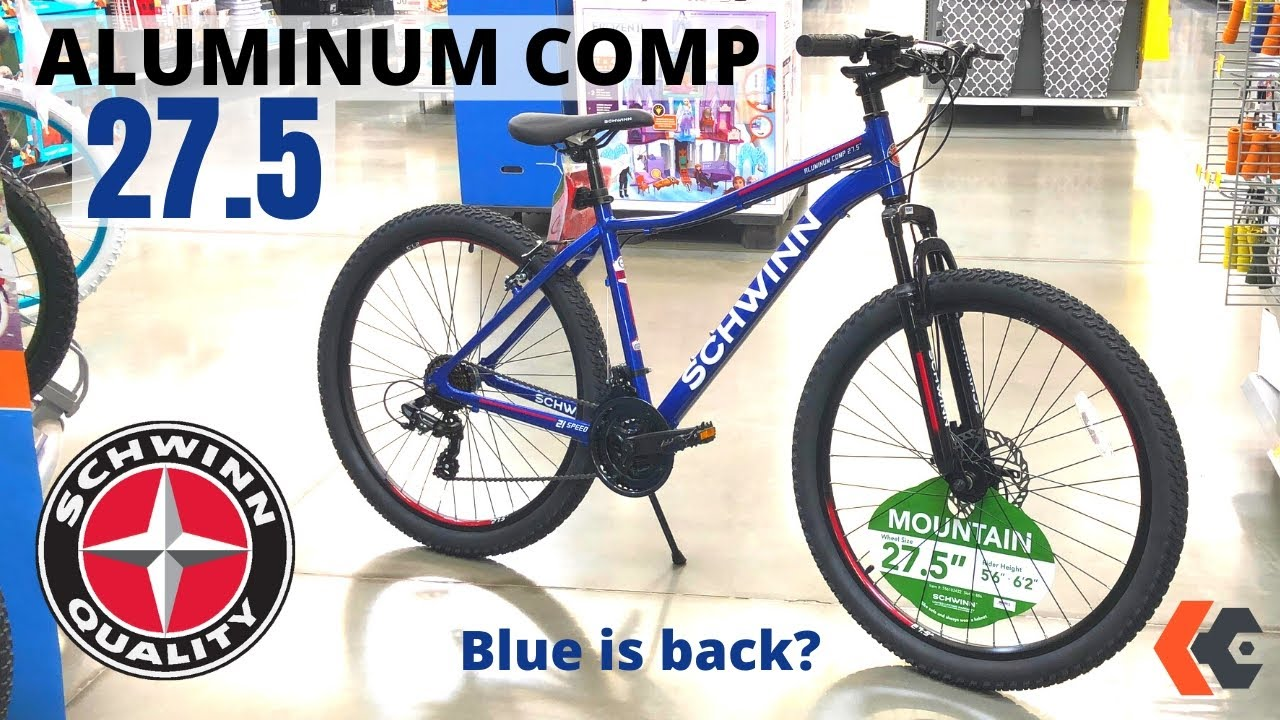 The Other Schwinn Aluminum Comp Mountain Bike At Walmart The Blue One Youtube