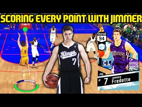 SCORING EVERY POINT WITH DIAMOND JIMMER FREDETTE! CAN WE WIN?! NBA 2K17 MYTEAM ONLINE GAMEPLAY