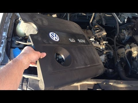 VW Golf MK4 16 16v - how to remove engine cover - YouTube