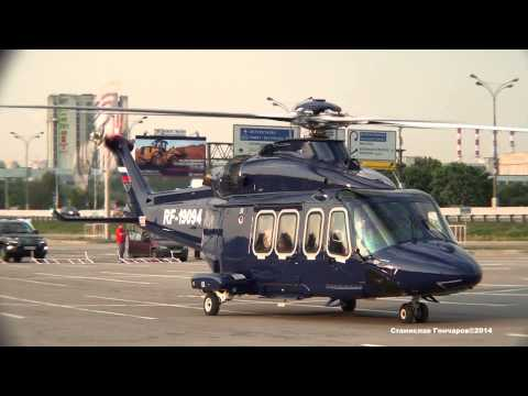 AgustaWestland AW139 RF 19094 HeliRussia 2014 Engine Start and Takeoff