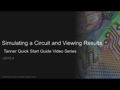 Simulating a Circuit and Viewing Results Using Tanner S-Edit, T-Spice, and Waveform Viewer