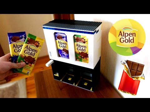 Автомат Для Продажи с Выбором Alpen Gold из Лего!