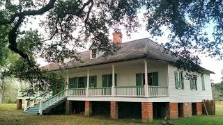 USA КИНО 1139. Луизиана. Экскурсия по скромной плантации Magnolia Mound.