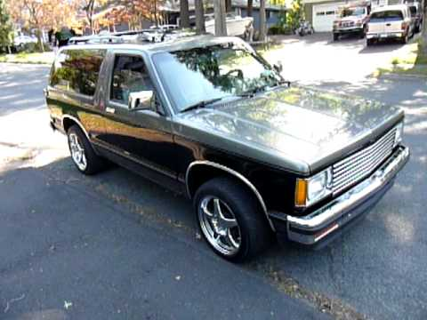 1989 chevy s10 blazer 350 5 speed youtube. Black Bedroom Furniture Sets. Home Design Ideas