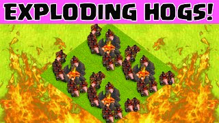 Clash of Clans HOG RIDER ATTACK STRATEGY   THE BACON AWAKENS
