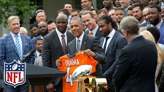 Super Bowl 50 Champion Broncos Honored at The White House (Full Ceremony) | NFL