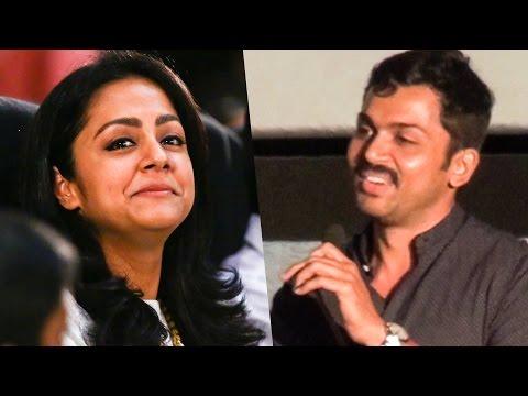 """I feel very paavam for Jo Anni"" - Karthi Opens Up | Magalir Mattum | TN 102"