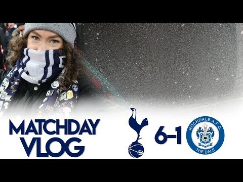 WEMBLEY SNOW GLOBE❄ | MATCHDAY VLOG: Spurs 6-1 Rochdale | FA Cup 2017/18