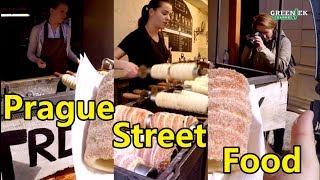 Street Food of Prague, Czech Republic - Staročeský trdelník - Питание в Праге вкусно и дешево