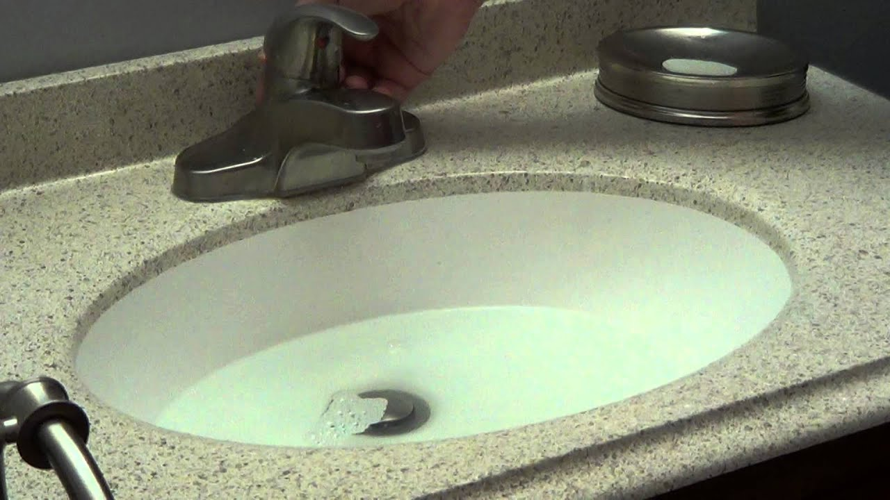 How To Fix A Clogged Bathroom Sink Unclog Bathroom Sink  Bacterial Drain Cleaner  Youtube