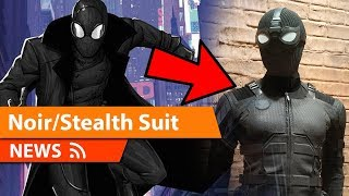 Spider-Man Far From Home Stealth/Noir Suit Revealed