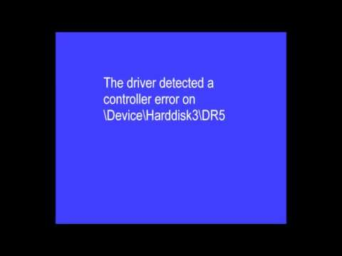 Event Viewer - The driver detected a controller error on DeviceHarddisk3DR5