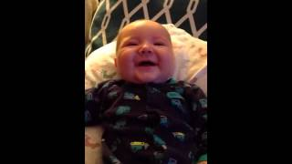 2/22/16 Four Month Old - Best Laugh Ever