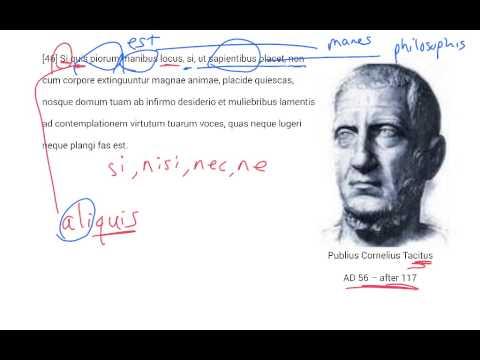 LatinPerDiem Latin Lessons: Tacitus, Agricola 1