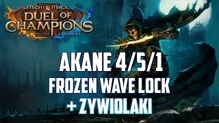 Might & Magic Duel of Champions - Akane 4/5/1 standard - Top Deck - Frozen Wave Lock + Żywiołaki