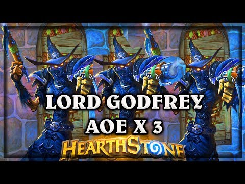 Lord Godrfey x 3 ~ The Witchwood Hearthstone Heroes of Warcraft