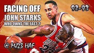 Michael Jordan vs John Starks Highlights Bulls vs Knicks (1993.04.25)-43p total, Who owns the EAST?
