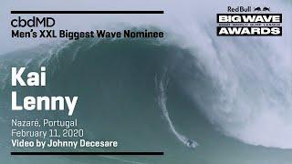 Kai Lenny at Nazaré | cbdMD XXL BIGGEST WAVE - Red Bull Big Wave Awards