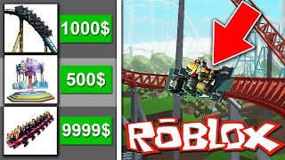 CRAZY ATTRACTIONS IN MY AMUSEMENT PARK! (ROBLOX AMUSEMENT PARK TYCOON)