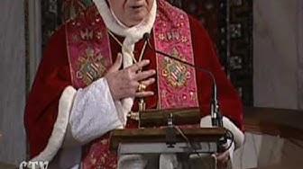 Der Papst spricht zu den Familienangehörigen der Missbrauchsopfer