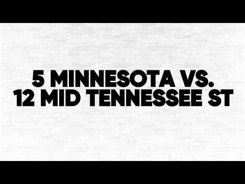 (5) Minnesota vs. (12) Middle Tennessee State