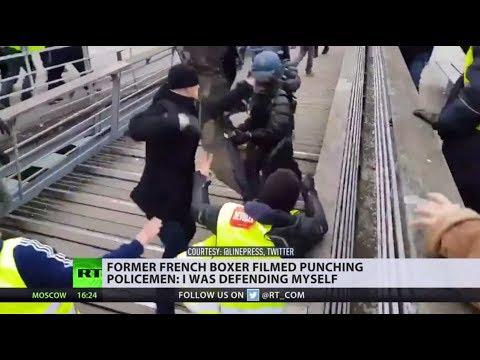 Former French boxer filmed punching policemen: 'I was defending myself'