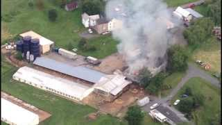 Barn Fire In Dalmatia, Pa --- Aug. 18 2013 Fly Over