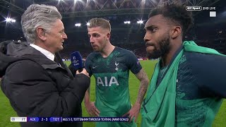 """I am so proud!"" Toby Alderweireld and Danny Rose react to Ajax 2-3 Spurs"
