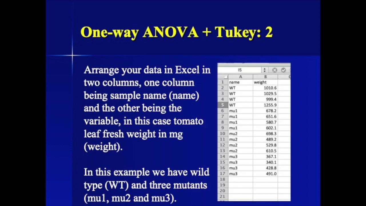 ANOVA one way with Tukey HSD in R