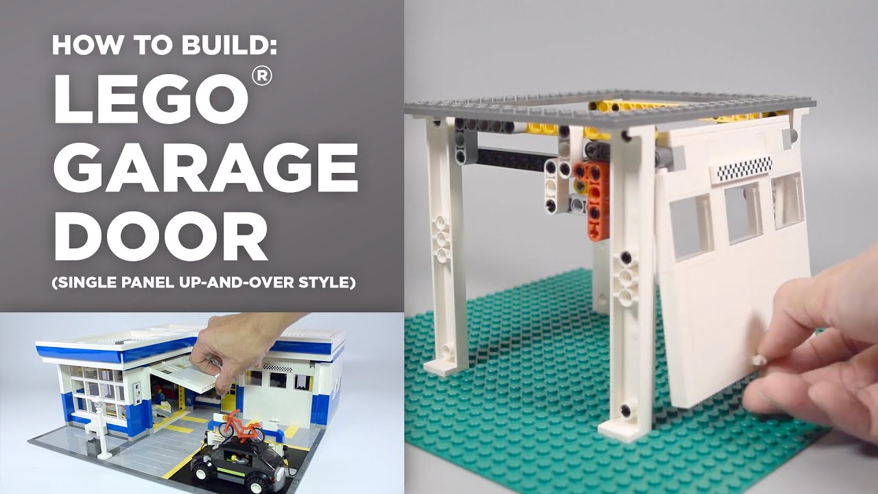 Lego Auto Garage Door Tutorial How To Youtube