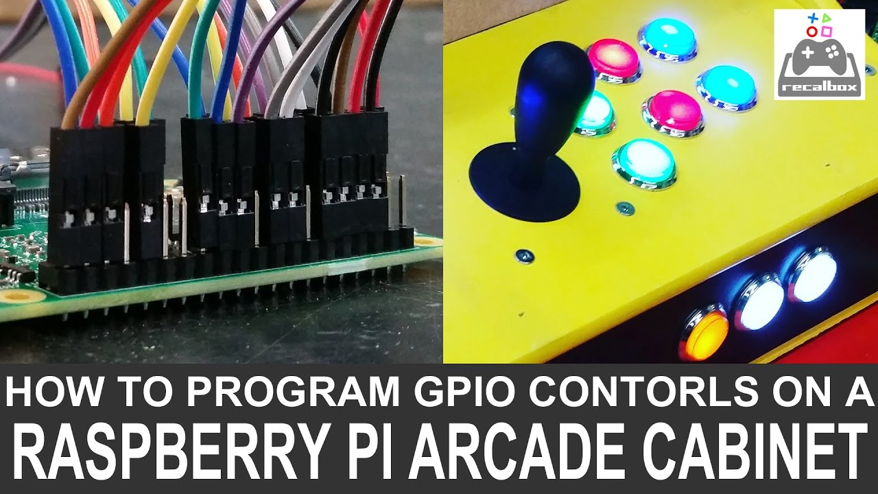 medium resolution of program gpio controls on a diy raspberry pi arcade cabinet how to do it easy youtube