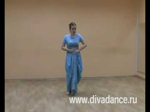 Драппировка сари для танца под дхоти - как штаны
