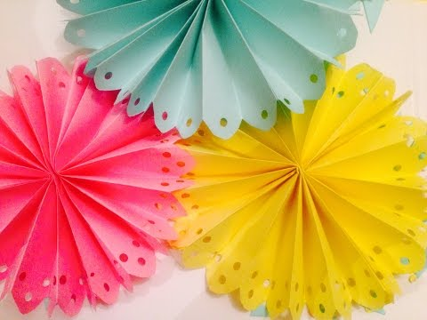 DIY Decorated Paper Fan Backdrop / Wedding Party Decorations EASY & QUICK!