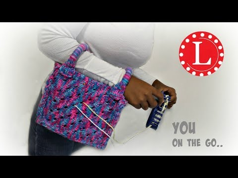 Loom Knit Bag Purse Small Yarn Holder Tote Bag Pattern On Round