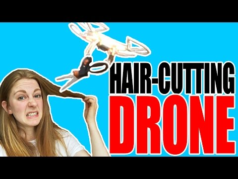 How to cut your hair using a drone