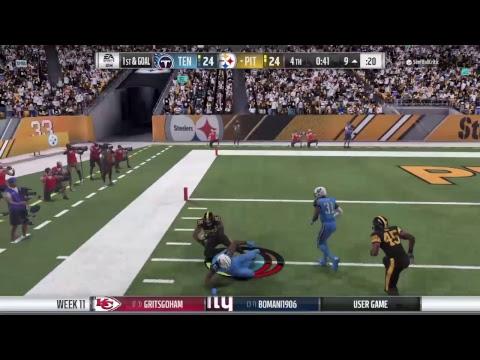 Madden 18 SSR S1 Wk10 Titans vs Steelers
