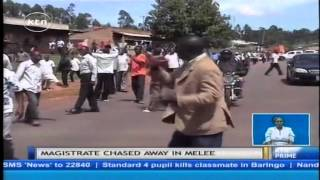 Angry resident of Kisii-Keroka road protest over mobile court