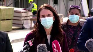 New Zealanders wear face masks…