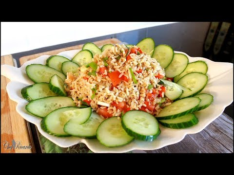 How To Make Best Amazing Brown Rice Salad Recipe   Chef Ricardo Cooking