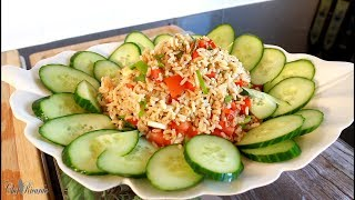 How To Make Best Amazing Brown Rice Salad Recipe | Chef Ricardo Cooking