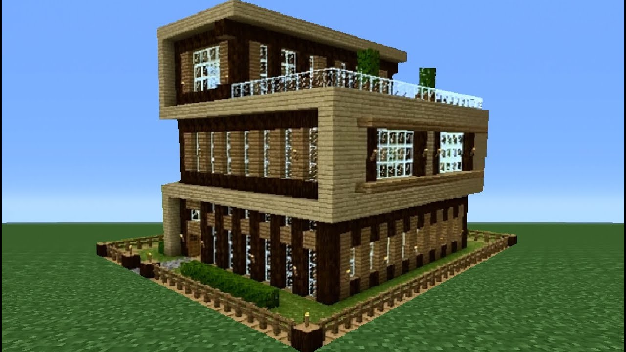 Minecraft 360 modern house tutorial house number 4 for Modern house mc