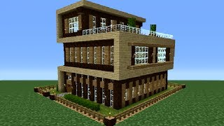 Minecraft 360: Modern House Tutorial (House Number 4)