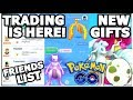 TRADING IN POKEMON GO IS FINALLY HERE! FRIENDS LIST LEGENDARY TRADING & LOTS MORE!