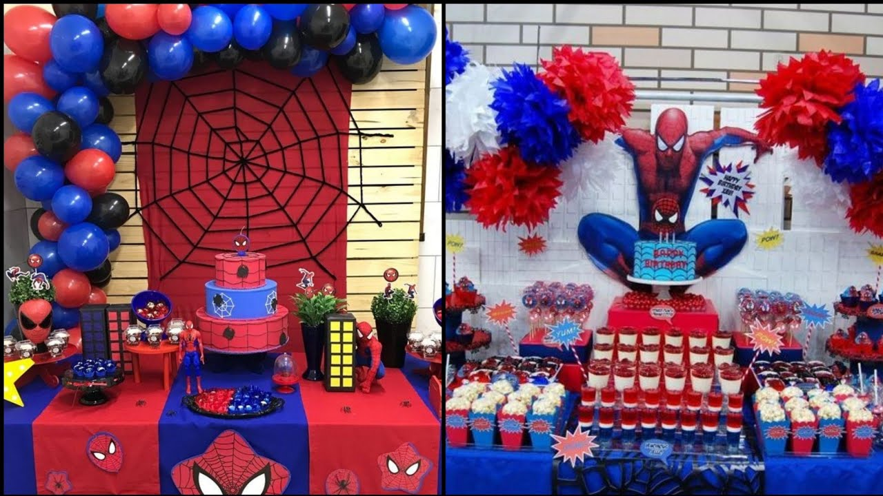 Diy Spiderman Birthday Theme Decorations Birthday Theme Ideas For Decor Youtube
