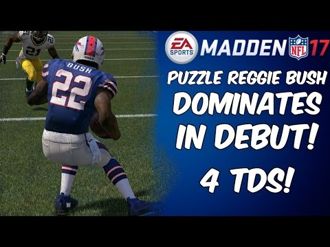 PUZZLE REGGIE BUSH DOMINATES IN DEBUT! | Madden 17 Ultimate Team Gameplay | MUT 17