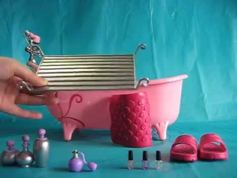 Our Generation Owl Be Relaxing Bathtub Set with AG Doll Ivy - YouTube