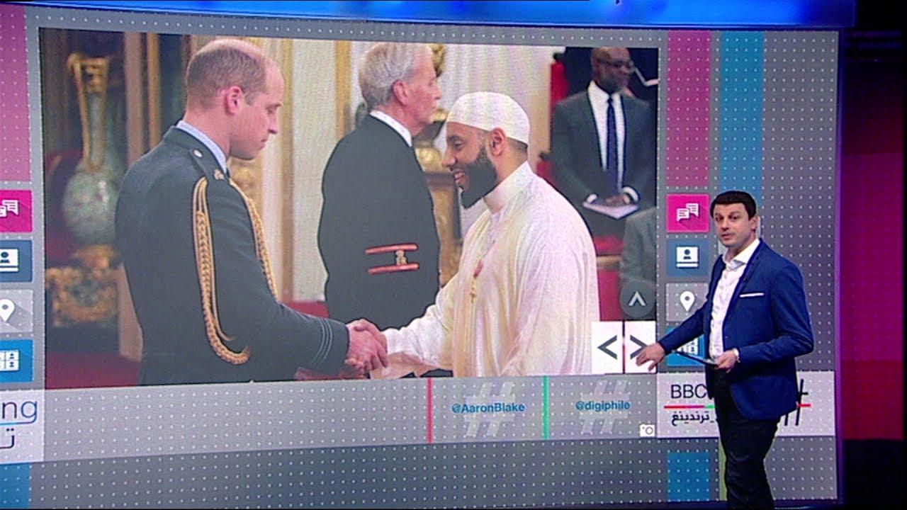 إمام مسجد في لندن يمنح وسام الإمبراطورية البريطانية لحمايته منفذ هجوم على مسجد فنزبري بارك