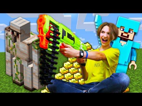 Майнкрафт видео онлайн - Стив и Света против Мобов! - Сборник видео по игре Minecraft