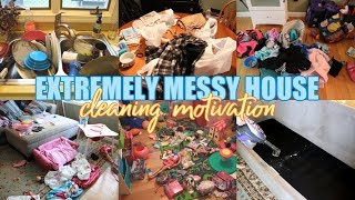 EXTREMELY MESSY HOUSE CLEANING MOTIVATION | CLEAN WITH ME 2019 | MOM LIFE