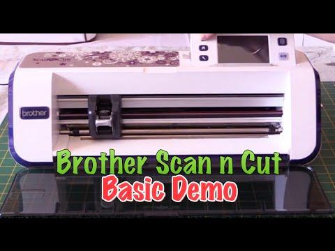 scan n cut how to cut felt videos